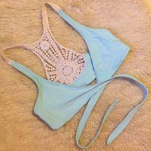 💧L*Space Joey Wrap Crochet Bikini Top 💧